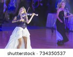 Small photo of Minsk, Belarus-October 7, 2017: Palladium Electric Band Female Violinist Elena Polyakova Performing on WDSF International Capital Cup Minsk,October 7,2017, Minsk,Belarus.