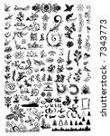 floral element for designer.... | Shutterstock .eps vector #7343773