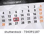 december 20 calendar | Shutterstock . vector #734391187
