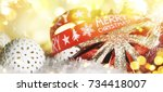 christmas holiday background | Shutterstock . vector #734418007