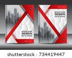 annual report brochure flyer... | Shutterstock .eps vector #734419447