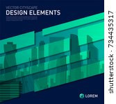 design element for corporate... | Shutterstock .eps vector #734435317