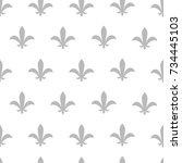 seamless vector pattern with... | Shutterstock .eps vector #734445103