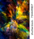 color explosion series.... | Shutterstock . vector #734449807