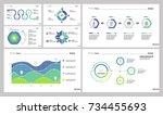 seven economics slide templates ... | Shutterstock .eps vector #734455693