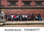 patan  kathmandu  nepal   circa ... | Shutterstock . vector #734484577