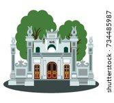 temple in illustration  quan... | Shutterstock .eps vector #734485987