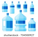 water plastic bottle vector... | Shutterstock .eps vector #734500927