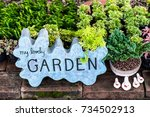 vintage sign with the word... | Shutterstock . vector #734502913