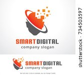 smart digital logo template... | Shutterstock .eps vector #734503597