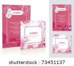 template of the congratulatory... | Shutterstock .eps vector #73451137