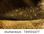 glitter vintage lights... | Shutterstock . vector #734531677