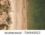 aerial view of a beautiful... | Shutterstock . vector #734543527