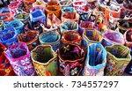 riohacha  colombia   february 7 ... | Shutterstock . vector #734557297