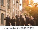 successful graduates in...   Shutterstock . vector #734589493