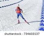 holmenkollen  norway   march 18 ... | Shutterstock . vector #734603137