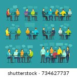 office team business people big ... | Shutterstock .eps vector #734627737