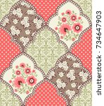 seamless pattern with...   Shutterstock .eps vector #734647903