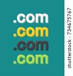 set of icons internet domain...