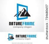 nature frame logo template... | Shutterstock .eps vector #734680657