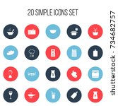 set of 20 editable cook icons....