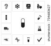 set of 13 editable health icons....