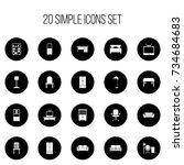 set of 20 editable furnishings...