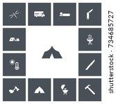 set of 13 editable trip icons....