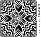 optical illusion abstract... | Shutterstock .eps vector #734693497