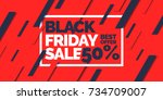 black friday. big sales. trendy ... | Shutterstock .eps vector #734709007