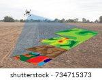 smart agriculture concept ... | Shutterstock . vector #734715373