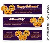 magic halloween party... | Shutterstock .eps vector #734719207