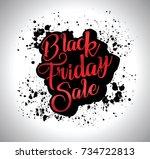 black friday sale calligraphic... | Shutterstock .eps vector #734722813