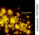 vector abstract twinkled bright ... | Shutterstock .eps vector #734750047