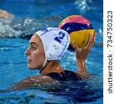 Small photo of Budapest, Hungary - Jul 20, 2017. PENNEY Amber (RSA) player of the South Africa team in the preliminary round. FINA Waterpolo World Championship was held in Alfred Hajos Swimming Centre in 2017.