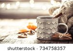 details of still life in the... | Shutterstock . vector #734758357