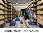 human control 3d rendering... | Shutterstock . vector #734765023