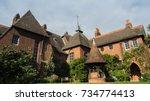 william morris' red house near... | Shutterstock . vector #734774413