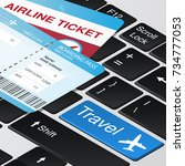 fast online tickets booking.... | Shutterstock .eps vector #734777053