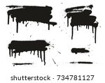 spray paint abstract vector... | Shutterstock .eps vector #734781127