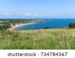 yaverland   isle of wight  ... | Shutterstock . vector #734784367