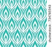 seamless ornamental pattern... | Shutterstock .eps vector #734785543