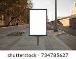 blank street billboard poster... | Shutterstock . vector #734785627