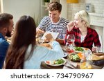 portrait of young people... | Shutterstock . vector #734790967
