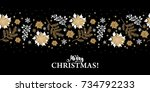 christmas banner with the words ... | Shutterstock .eps vector #734792233