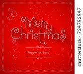 merry christmas lettering blue... | Shutterstock .eps vector #734792947