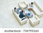 directly above view of hard... | Shutterstock . vector #734793163