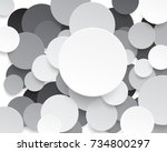 circle paper cut style with... | Shutterstock .eps vector #734800297