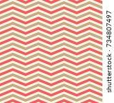 chevron seamless pattern.... | Shutterstock .eps vector #734807497
