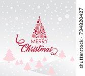 merry christmas vector text... | Shutterstock .eps vector #734820427